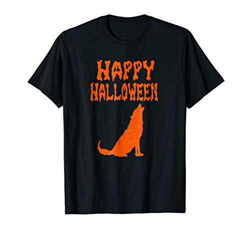 Scary and Creepy Wolf Funny Halloween T Shirt, Howl, Moon
