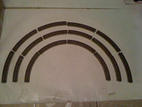 MARKLIN HO Vintage 1/2 Circle M Tracks STANDART Curves 5100 (6 PCS.)
