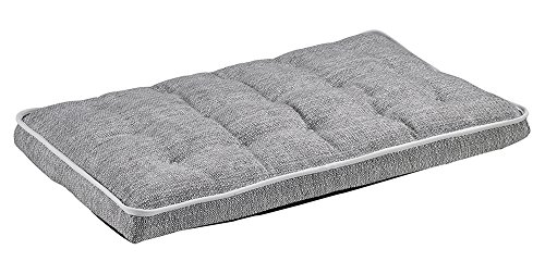 Microlinen Crate Luxury - Bowsers Luxury Crate Mattress Dog Bed, Large, Alumina