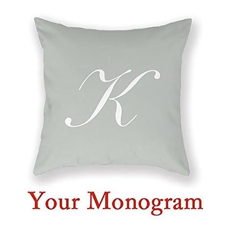 Movon Monogram letra K manta cubre Kaitlin personalizado ...
