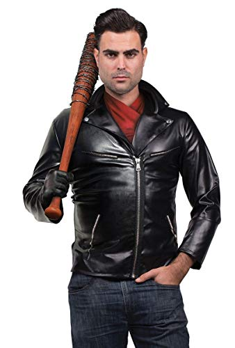Walking Dead Negan Zombie Slugger Adult Costume Medium Black ()