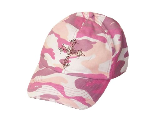 Copper Cross Vintage Pink Camo Baseball Hat Visor (Womens Camo Vintage Pink)