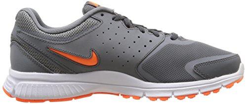 Nike Revolution EU, Chaussures de Gymnastique Homme Grigio/Arancione/Bianco