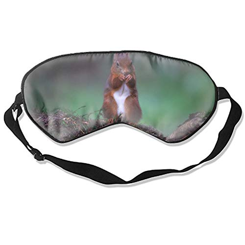 (Sleep Mask Stones Moss Squirrel Red Food Eye Cover Blackout Eye Masks,Soothing Puffy Eyes,Dark Circles,Stress,Breathable Blindfold for Women Men)