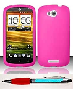 Quaroth - Accessory Factory(TM) Bundle (the item, 2in1 Stylus Point Pen) For HTC One VX (AT&T) Silicon Skin Case Cover Protector...