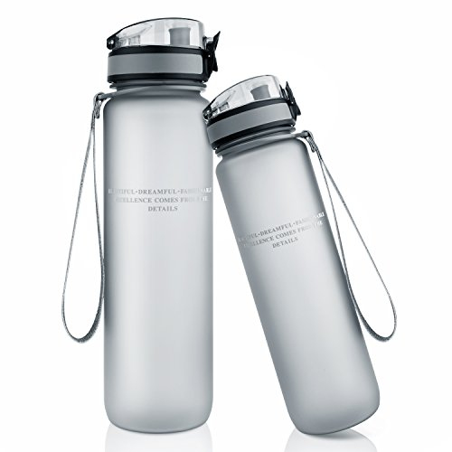 TALONITE Water Bottle with Leak Proof Flip Top Lid - 32 or (Plastic Water)