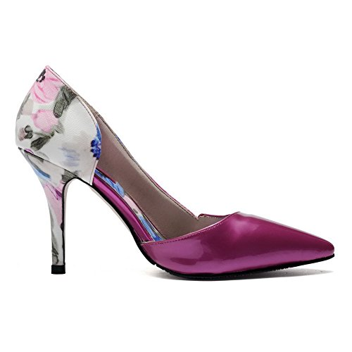 Pull Donne Alti Punta In Weipoot Di shoes Mucca Chiusa on Hanno Colori Indicato Pompe Rosered Tacchi Assortiti Pelle BxwdRYOqRW