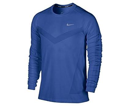 350501ad Nike Dri-FIT Knit Long-Sleeve Men's Running Shirt, Royal Blue, L ...