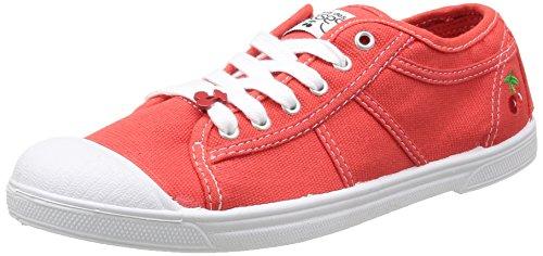 Le Temps des Cerises Basic 02, Baskets Femme Rouge (Scarlet)