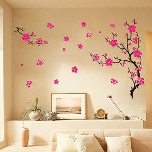 yl autocollant dcoration de mur sticker muraux avec motif de fleur pour dcoration chambre d
