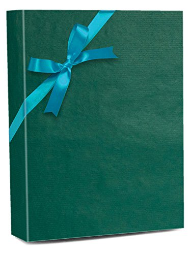 30'' X 100' Teal Shadow Stripe Gift Wrap by Paper Mart
