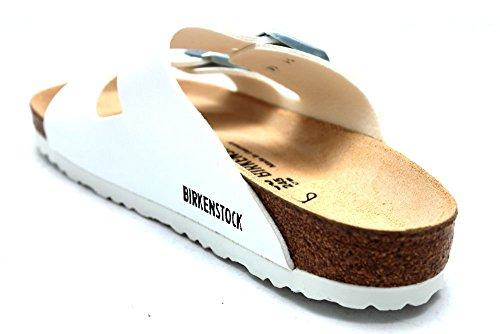 Birkenstock - Sandalias de vestir de cuero para mujer blanco blanco blanco - blanco
