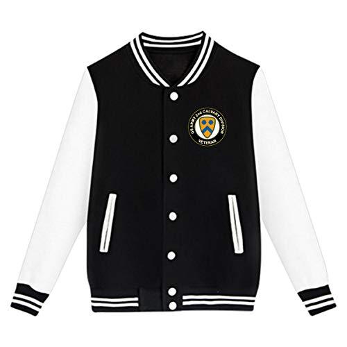 Kungfu-Base.... US Army Veteran 2nd Cavalry Division Boys&Grils Baseball Uniform Jacket Sport Coat