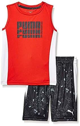 PUMA Boys Boys' Tank & Short Set Shorts Set - red - 4