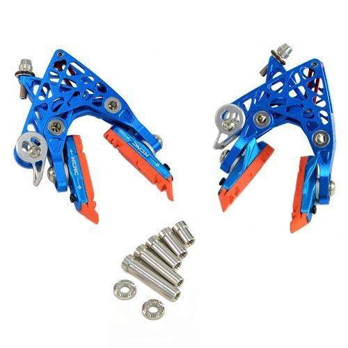 KCNC CB4 Calipers Brake Set (Front & Rear), Blue #BK1083-2-self   B07M9VP7RJ