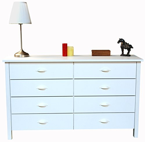 Venture Horizon 8 Drawer Nouvelle Dresser White