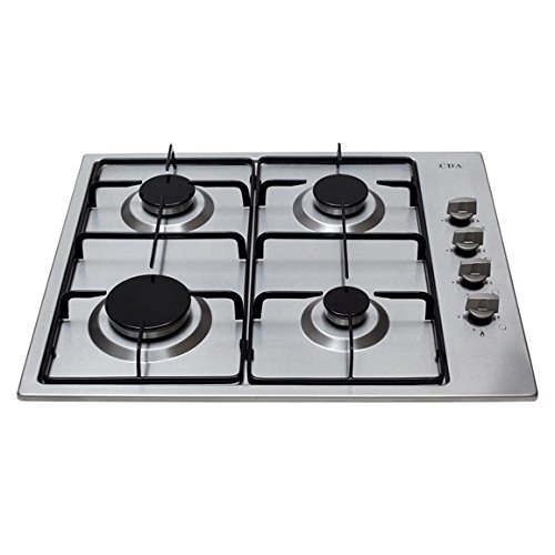 CDA HG6150SS Gas Hob 58cm Enamel Pan Support Stainless Steel