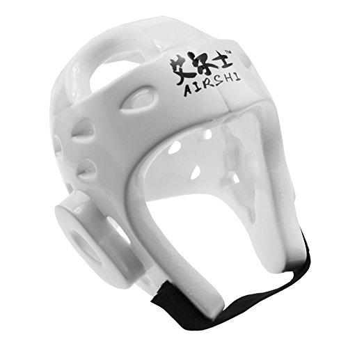 AIRSHI Taekwondo Kickboxing Helmet Head Gear Guard Protector (White, L)