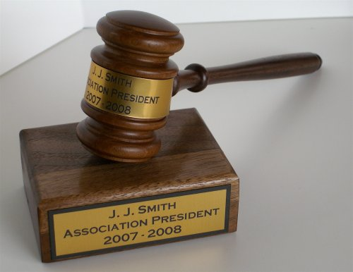 Wooden Gavel (Gavel & Sound Block with Engraving)