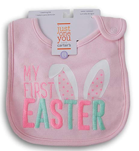 - Carter's Pink ''My First Easter'' Teething Bib