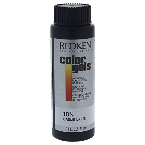 Redken Color Gels Permanent Conditioning Hair Color for Unisex, 10N Creme Latte, 2 Ounce ()