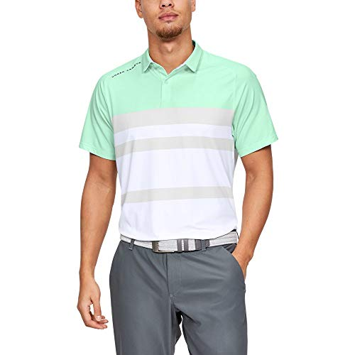 Under Armour Iso-Chill Block Polo, Aqua Foam//Pitch Gray, -