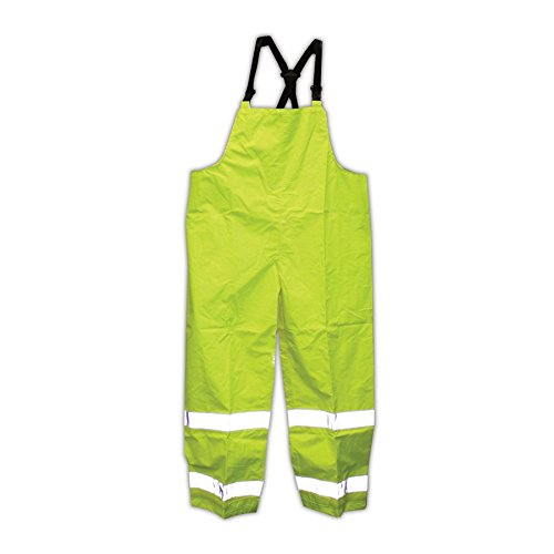 TINGLEY Rubber O24122 Icon Bib Overalls with Reference Tape, X-Large, Lime Green
