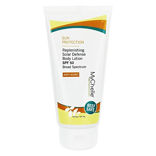 MyChelle Replenishing Solar Defense Body Lotion SPF 50, Hydrating Mineral Sun Protection, 6 fl oz
