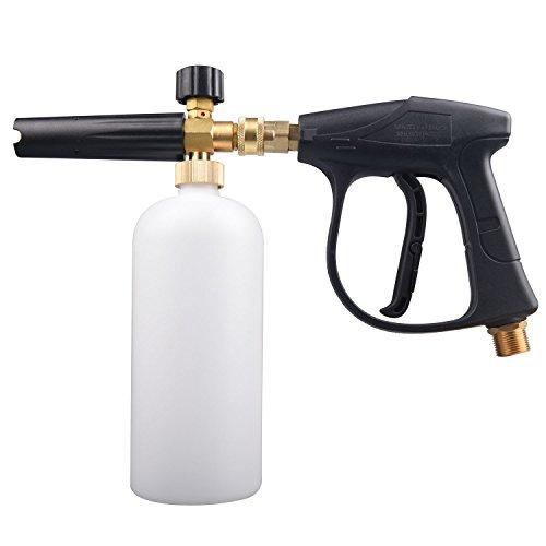 Jinwen 126 Snow Foam Lance Foam Cannon Pressure Washer Car Wash Spray Gun Adjustable Foam Blaster M22-14MM Thread (Blaster Spray)