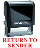 NEW Trodat Best Selling Red Office Self-Inking Stock Rubber Stamp - RETURN TO SENDER