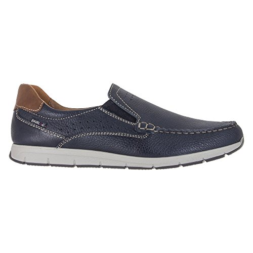 1207500 Shoes Blue Leather Moccasins Made In Italy