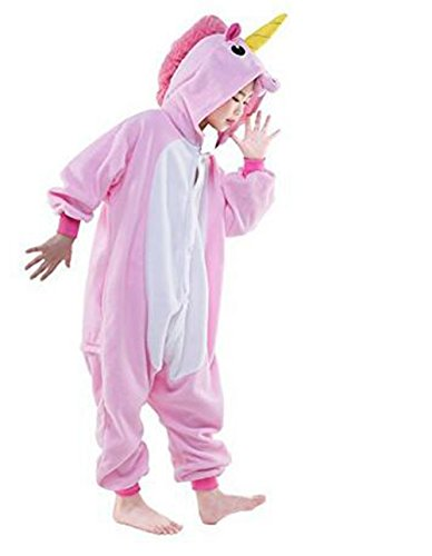Children's Pajamas Animal Costume Kids Sleeping Wear Kigurumi Pajamas Cosplay (M, Pink Flying Horse)