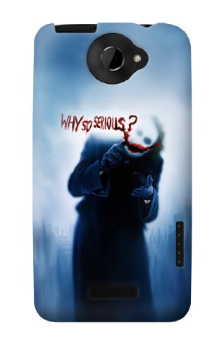 S0981 Batman Joker Why So Serious Case Cover For HTC ONE X