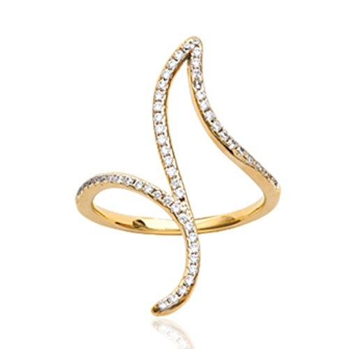 ISADY - Briony Gold - Bague femme - Plaqué Or 750/000 (18 carats) - Oxyde de Zirconium