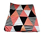 (US) Danha Reversible Triangle Quilt Blanket for Baby Girls: The Puffy and Comfy Fabric to Comfort the Little One