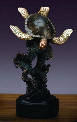 Large Sea Turtle Statue - Figurine