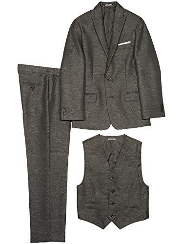 Steve Harvey Big Boys' Three Piece Suit Set, Black Herringbone, 20 by Steve Harvey (Image #2)