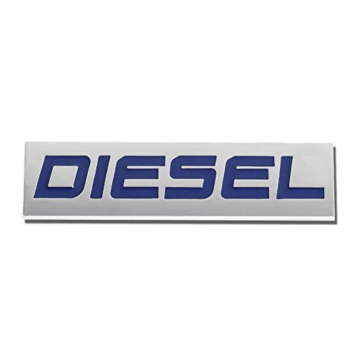 UrMarketOutlet DIESEL Blue/Chrome Aluminum Alloy Auto Trunk Door Fender Bumper Badge Decal Emblem Adhesive Tape Sticker 1985 Vw Golf Diesel