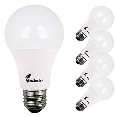 Fluxtronics A19 ~ A21 LED Light Bulb, 100 Watt Equivalent, 1600 Lumens, 5000K Daylight, 15W = 100W Light Bulb, Non Dimmable, E26 LED Bulb, Energy Star Certified, UL-Listed, 3 Years Warranty