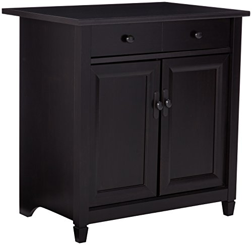 Sauder 408696 Edge Water Utility Cart/Stand L: 2819quot x W: 1945quot x H: 2902quot Estate Black finish