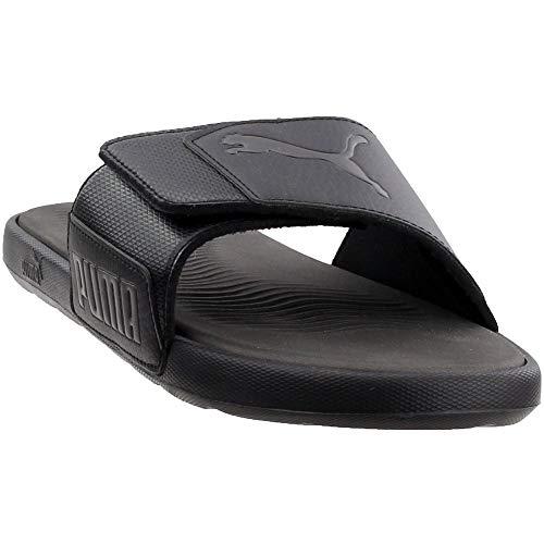 PUMA Mens Starcat Tech Slide Sandals (Black/Asphalt, 9) (Shoes Puma Shower)