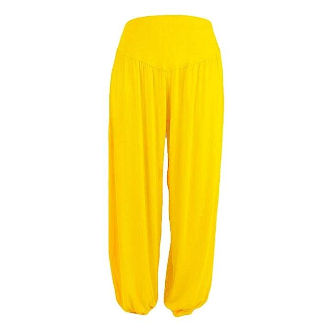 RISTHY Pantalónes Harem Deportivos de Verano Print Sweatpants Boyfriend Mujer Talla Grandes Sueltos Ocasionales Pantalón de Yoga Casual Color Sólido ...