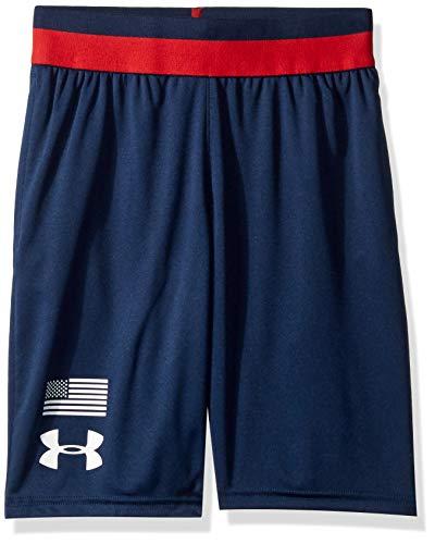 Under Armour Americana Prototype Logo Shorts, Academy//White, Youth Medium