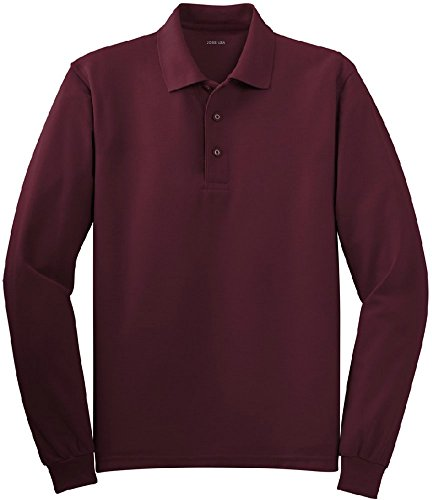 Joe's USA tm - Mens Size X-Large Long Sleeve Polo Shirts in 10 Colors