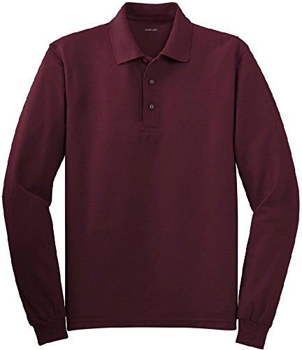 Joe's USA(tm) - Mens Size Medium Long Sleeve Polo Shirts in 10 Colors