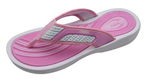 Luft Elegant Gullig Färgrik Kvinnors Dusch Strand Sandal Tofflor Flip Flops I Glada Färger Vit / Rosa