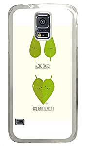 Samsung Galaxy S5 free shipping covers Funny Leaves PC Transparent Custom Samsung Galaxy S5 Case Cover by icecream design