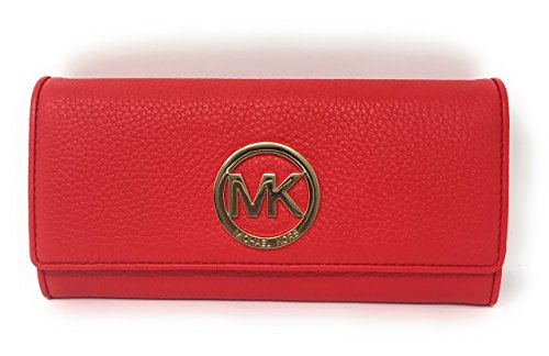 29682b0de577 Galleon - MICHAEL Michael Kors Fulton Flap Continental Clutch Wallet (Dark  Sangria)