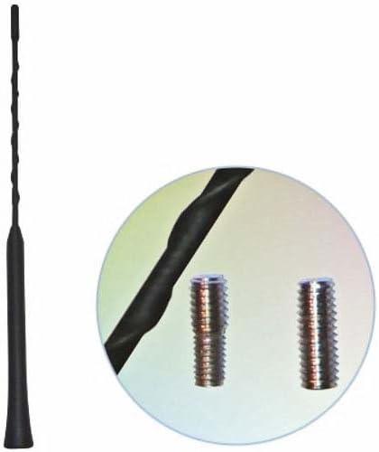 Baseline Connect Ersatzantennenstab schwarz gewendelt Wechselgewinde M5+M6 28cm
