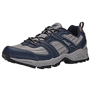 AVIA Men's Dell Trail Running Shoe, Frost Grey/True Navy/Steel Grey, 9.5 M US